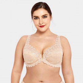 Delimira Patterned Lace Nude Bra (W034)