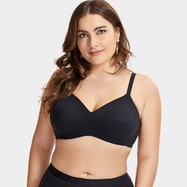 Delimira Smooth Cup Black Bra (W603)