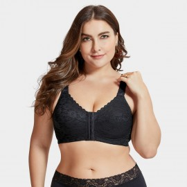 Delimira Front Closure Black Bra (W613)