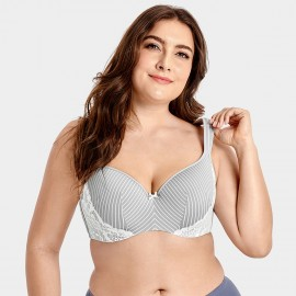 Delimira Lace Side Panel Grey Bra (W631)