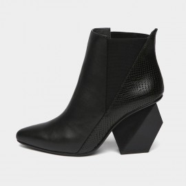 Jady Rose Style In Craze Leather Black Boots (15DR1-2085-A)