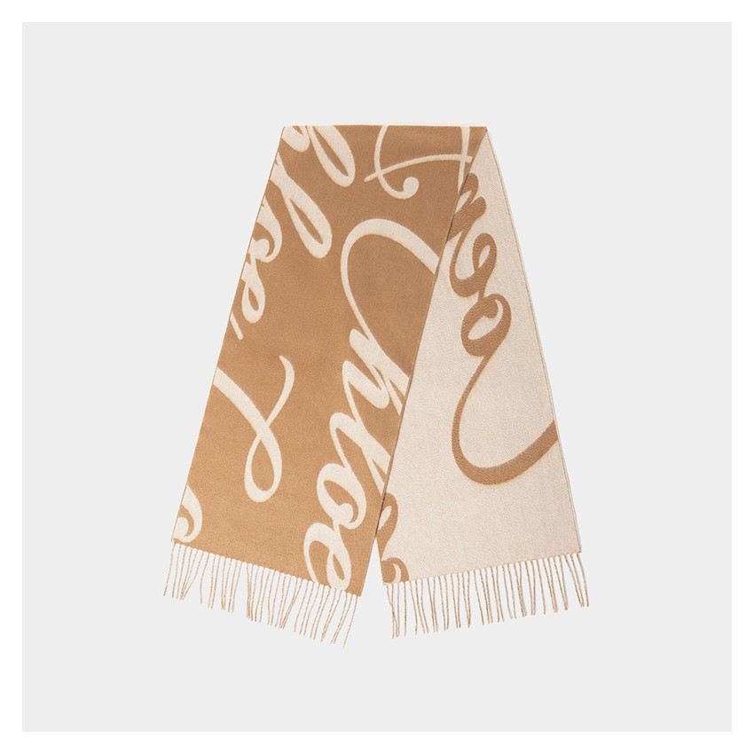 "Coen & Chloe ""Love"" Classic Cashmere Camel Scarf (LDWJ001)"