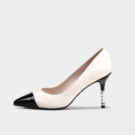 Jady Rose Pearl White Pumps (20DR10706)