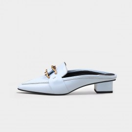 Jady Rose Chain Blue Slippers (20DR10735)