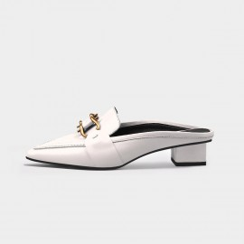 Jady Rose Chain White Slippers (20DR10735)