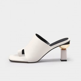 Jady Rose Mature White Slippers (20DR10750)