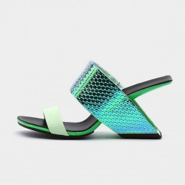 Jady Rose Dazzling Green Slippers (20DR10755)