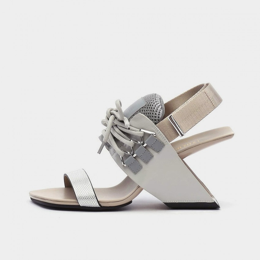 Jady Rose Punk Grey Sandals (20DR10758)