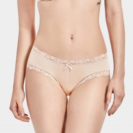 Dobreva Classic Lace Mid-Wise Nude Panty (P065)