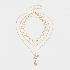 Coen C 3-Layers Alive Rose Gold Necklace (C01765K1)
