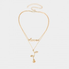 Coen C Alive Rose Love Gold Necklace (C01767K1)