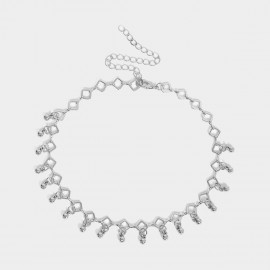 Coen C Spread Beads Silver Necklace (C01925K1)