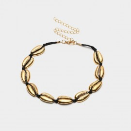 Coen C Shell House Lux Black Necklace (C01926K1)
