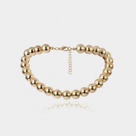 Coen C Metal Beads Gold Long Chain (C02364K1)