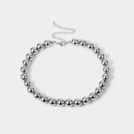 Coen C Metal Beads Silver Long Chain (C02364K1)