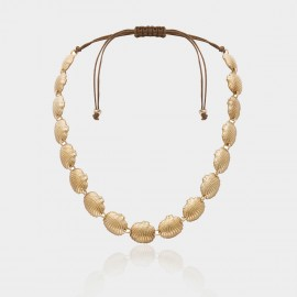 Coen C Shell Wave Gold Necklace (C02382K1)