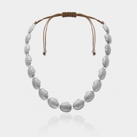 Coen C Shell Wave Silver Necklace (C02382K1)