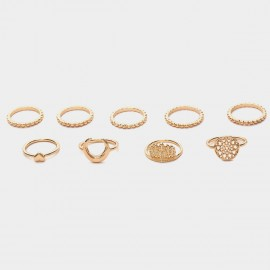 Coen C 9-Piece Indian Empire Gold Ring Sets (F00213K1)