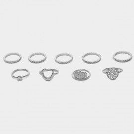 Coen C 9-Piece Indian Empire Silver Ring Sets (F00213K1)