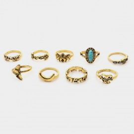Coen C 9-Piece Myth Queen Gold Ring Sets (F00215K1)
