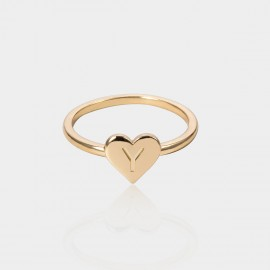 Coen C Heart Y Gold Ring (F00221KY)