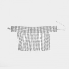Coen C Waterfall Silver Anklet (H00285)