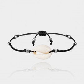 Coen C Solo Shell Silver Anklet (H00548K1)