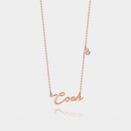 """Coen & Chloe """"His Name"""" Stylish Rose Gold Necklace (LDX4875)"""