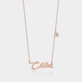"""Coen & Chloe """"Her Name"""" Stylish Rose Gold Necklace (LDX4877)"""