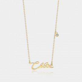 """Coen & Chloe """"Her Name"""" Stylish Gold Necklace (LDX4878)"""