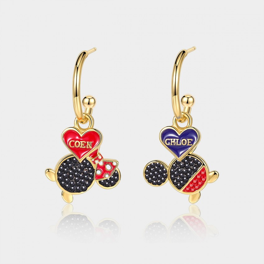 Coen & Chloe 3-pieces Twins Wonderland Gold Earrings (LDE10822)