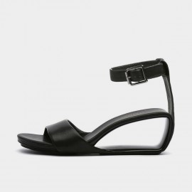 Jady Rose Casual Hollow Wedge Black Sandals (20DR10759)