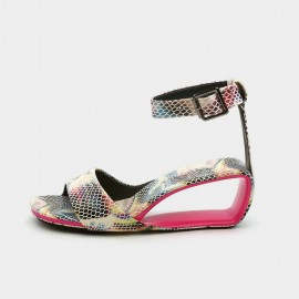 Jady Rose Casual Hollow Wedge Rainbow Sandals (20DR10759)
