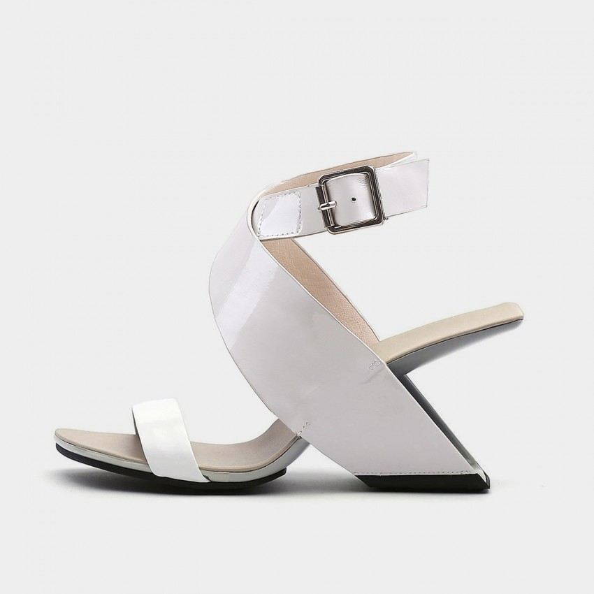Jady Rose Dreamy Hollow Heel Grey Sandals (20DR10763)