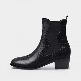 Jady Rose Trendy Reptile Black Boots (20DR10784)