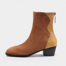 Jady Rose Curvature Suede Brown Boots (20DR10785)