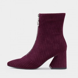 Jady Rose All-Corduroy Wine Boots (20DR10789)