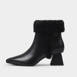 Jady Rose Classy Fluffy Black Boots (20DR10791)