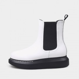 Jady Rose Everyday Platform White Boots (20DR10793)