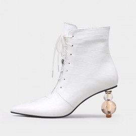 Jady Rose Fabulous Reptile White Boots (20DR10795)
