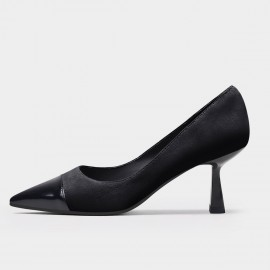 Jady Rose Chic Patent Leather Black Pumps (20DR10796)