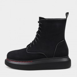 Jady Rose Smart Lace-Up Black Boots (20DR10802-C)