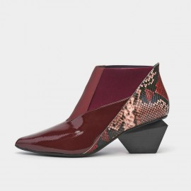 Jady Rose Chic Patchwork Wine Boots (20DR10824)