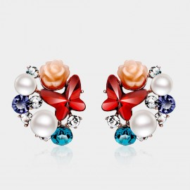 Caromay Spring Garden Red Earrings (E0013)