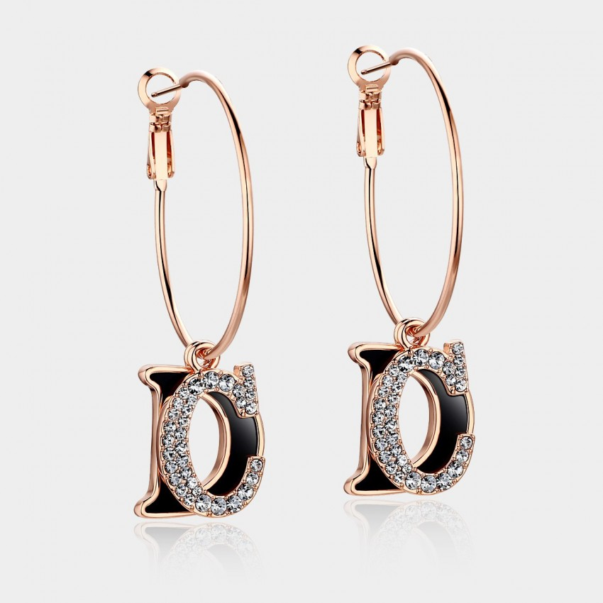 Caromay CD Black Earrings (E0114)