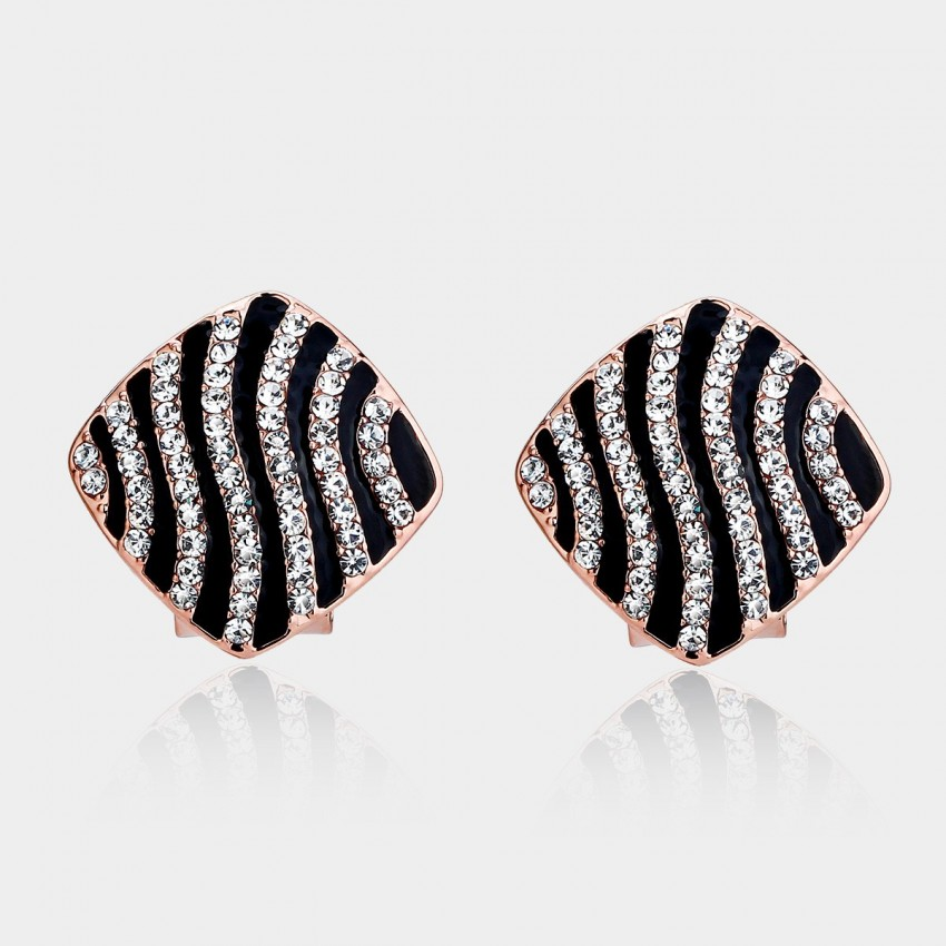 Caromay Running Water Rose Gold Earrings (E0117)
