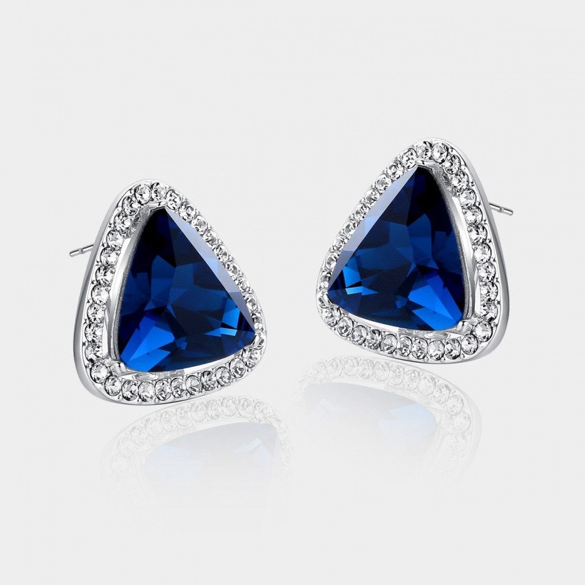 Caromay Magical Triangle Sapphire Earrings (E0124)