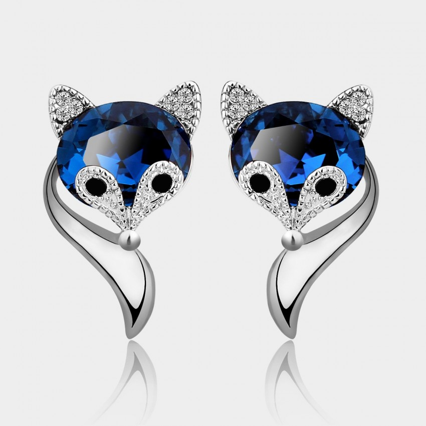 Caromay Charming Fox Silver Earrings (E0380)