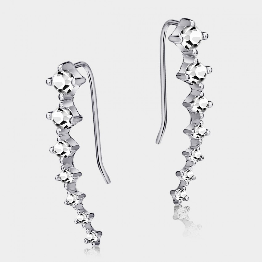 Caromay Comet Silver Earrings (E0432)