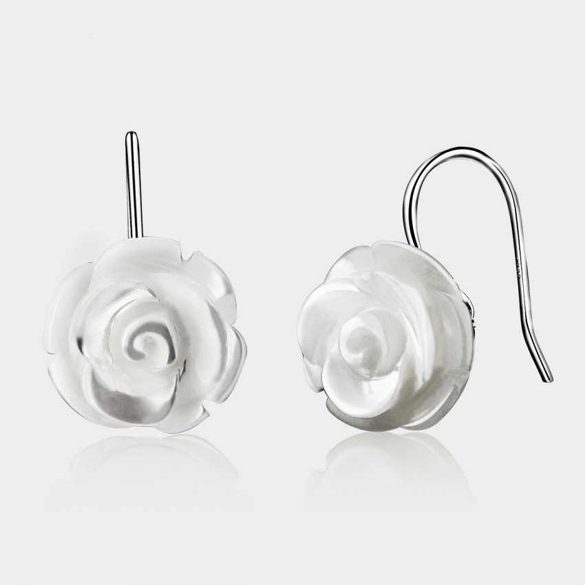 Caromay Seashell Flower White Earrings (E0522)